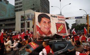 Castillo obtém a maioria dos votos nas eleições presidenciais peruanas