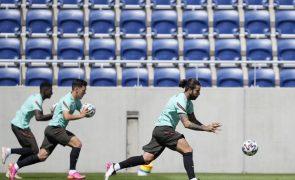 Euro2020: Portugal treinou já sem Cancelo, mas com Anthony Lopes integrado