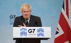 G7: PM britânico saúda