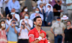 Roland Garros: Novak Djokovic diz que