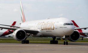 Emirates anuncia perdas líquidas de 4,53 mil milhões de euros em 2020