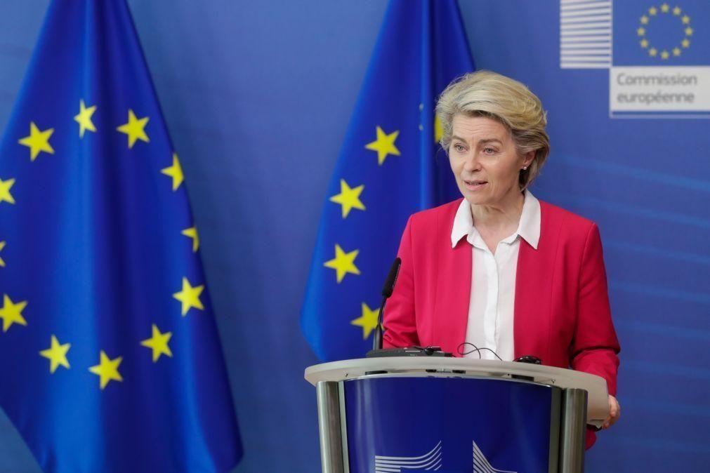 UE/Presidência: Von der Leyen hoje em Lisboa para 'validar' PRR