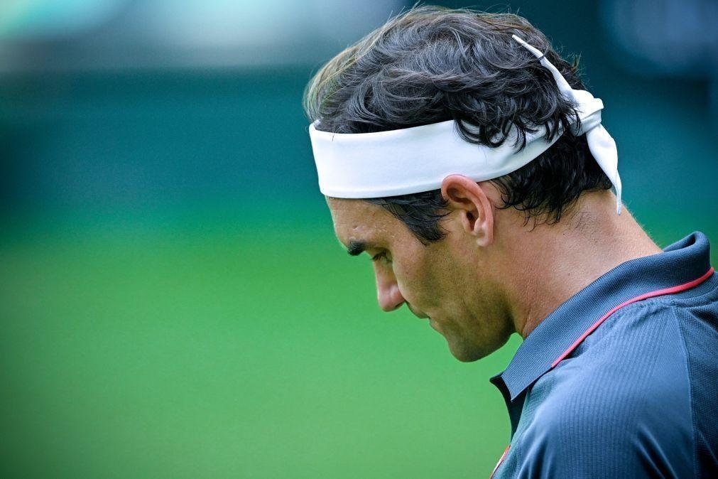 Federer eliminado do torneio de ténis de Halle por Felix Auger-Aliassime
