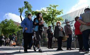 Covid-19: Incidência em Espanha desce abaixo dos 100 casos por cada 100.000 habitantes