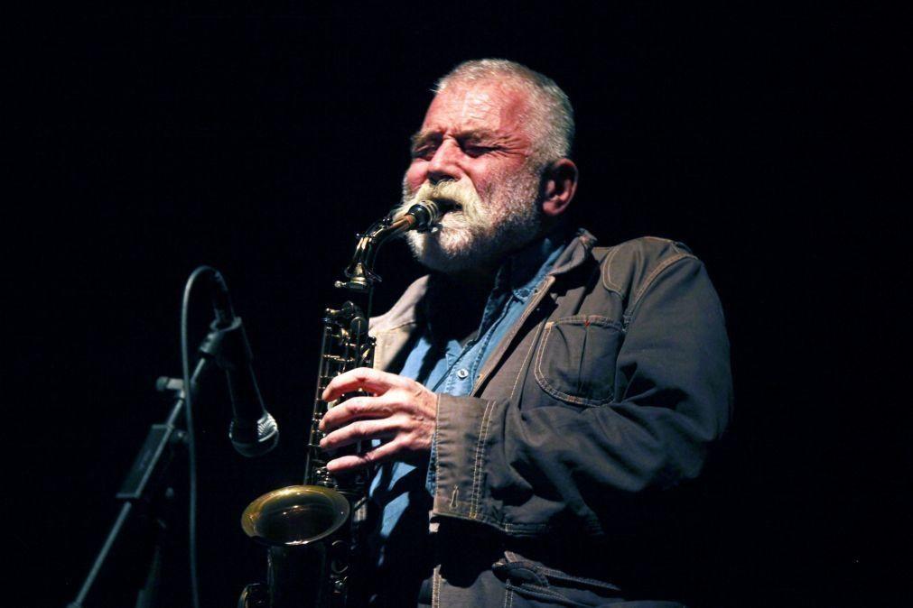 Saxofonista Peter Brötzmann na abertura do Jazz em Agosto da Gulbenkian