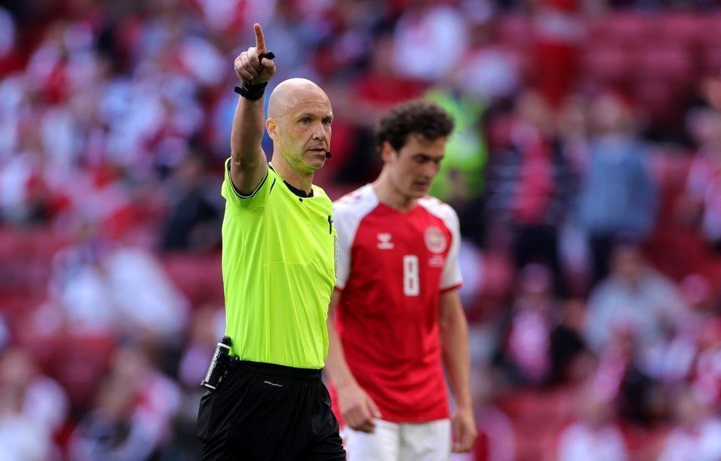 Euro2020: Inglês Anthony Taylor vai arbitrar o Portugal-Alemanha