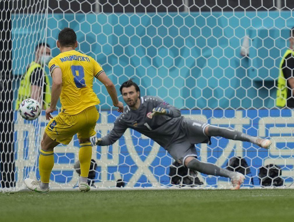 Euro2020: Ucrânia soma segunda vitória em Europeus ao bater Macedónia do Norte