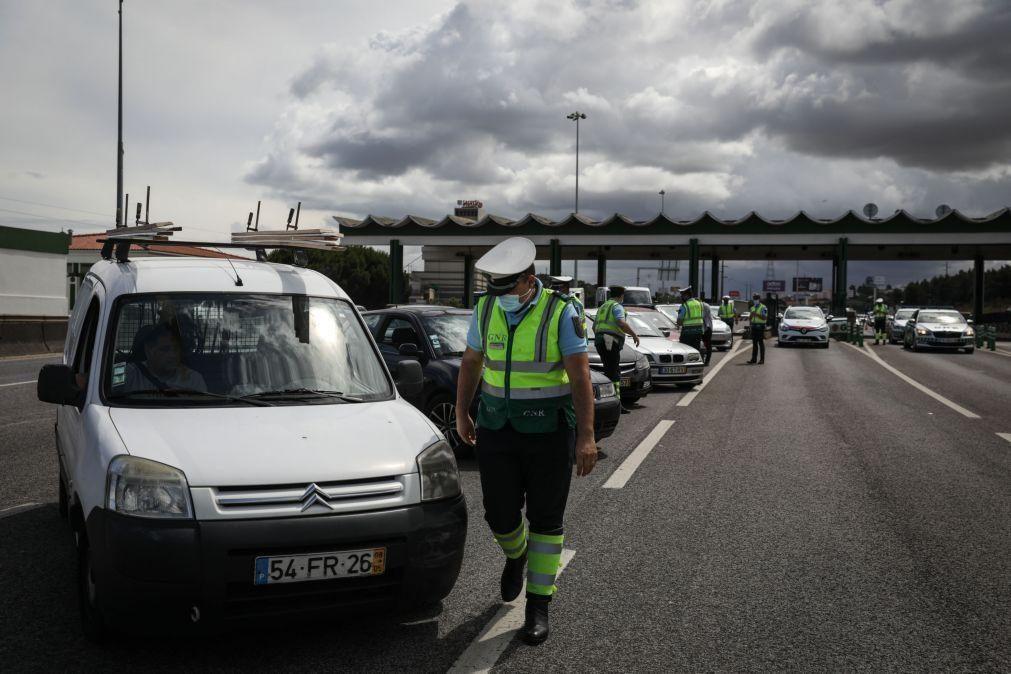 Covid-19: Automobilistas cumprem regras de circulação de e para a AML - GNR