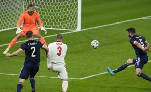 Euro2020: Inglaterra empata com Escócia e desperdiça oportunidade de garantir 'oitavos'