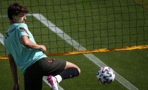 Euro2020: João Félix falha jogo com a Alemanha devido a dores musculares