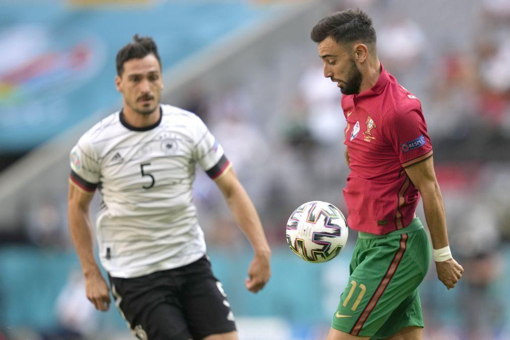 Euro2020: Portugal marcou dois autogolos e perde com Alemanha ao intervalo