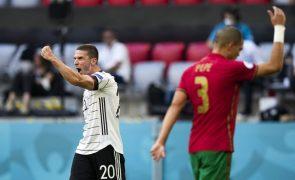 Euro2020: Portugal perde com Alemanha e cai para 3.º lugar do Grupo F