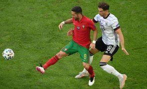 Euro2020: Pepe e Moutinho unem-se a Buffon no pódio com 17.º jogo em Europeus