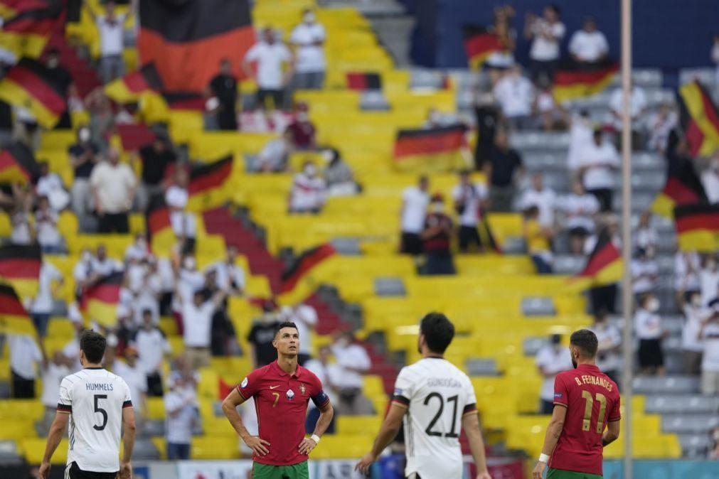 Euro2020: Portugal cede primeira reviravolta nos '90' ao jogo 67 em fases finais