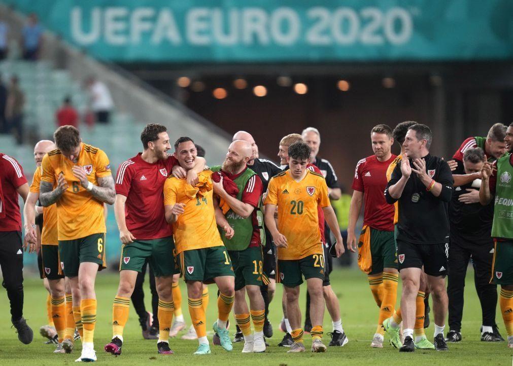 Euro2020: País de Gales tenta juntar-se à Itália com a Suíça à espreita
