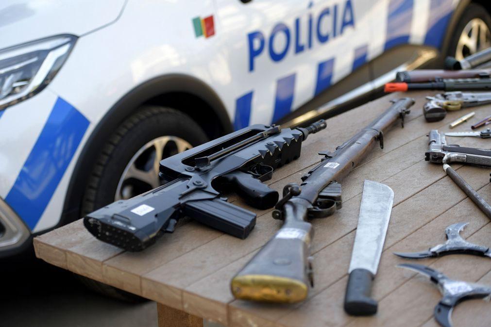 Mais de 2.200 armas entregues à PSP em menos de quatro meses