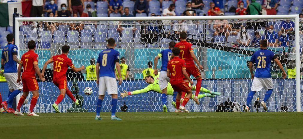 Euro2020: País de Gales perde com Itália mas está apurado, Suíça aguarda