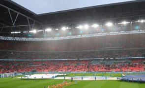 Euro2020: Governo britânico aprova mais de 60.000 espetadores em Wembley