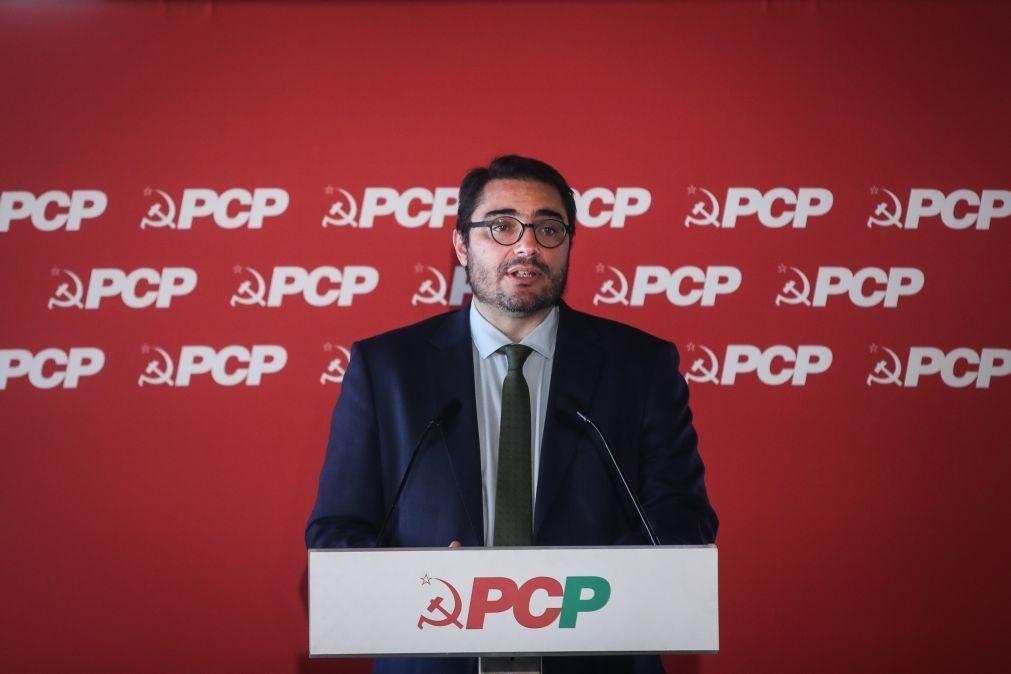 PCP diz que propostas sobre legislação laboral são passo para a estabilidade