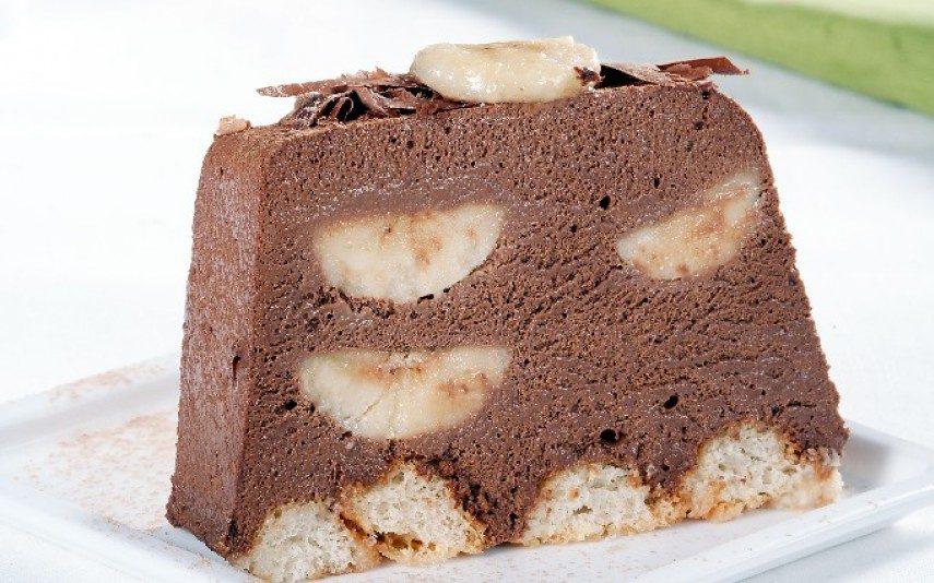 Pavé de banana: Fruta ou chocolate? Ambos!