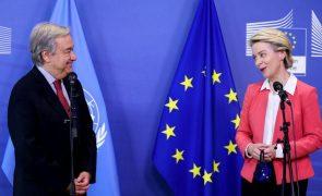 Von der Leyen diz a Guterres que ONU