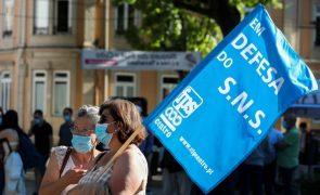 Dezenas de pessoas concentram-se em Coimbra em defesa do Hospital dos Covões
