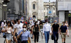 Covid-19: Itália com 927 novos casos e cresce a preocupação com a variante delta