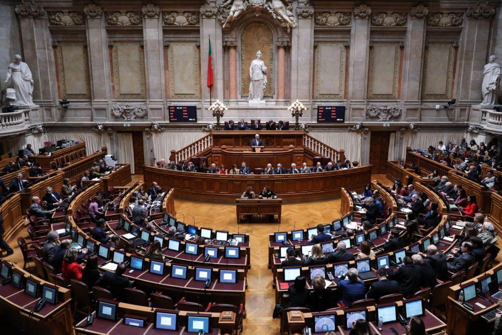 Parlamento debate hoje 25 diplomas do Governo e partidos na área da corrupção
