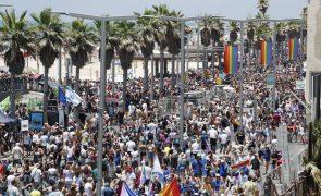 Marcha do orgulho gay em Telavive reúne milhares de pessoas