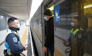 Covid-19: PSP controla viagens de comboio, autocarro e avião em Lisboa