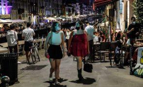 Covid-19: Itália regista 782 novos casos e mantém níveis baixos de incidência