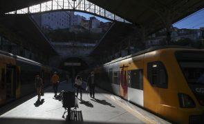 Greve dos trabalhadores da IP levou à supressão de 19 comboios da CP até às 06:00
