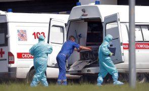 Covid-19: Moscovo e São Petersburgo registam recordes diários de mortes