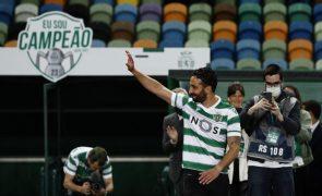 Sporting já  treinou com bola depois de testes físicos e exames médicos de manhã