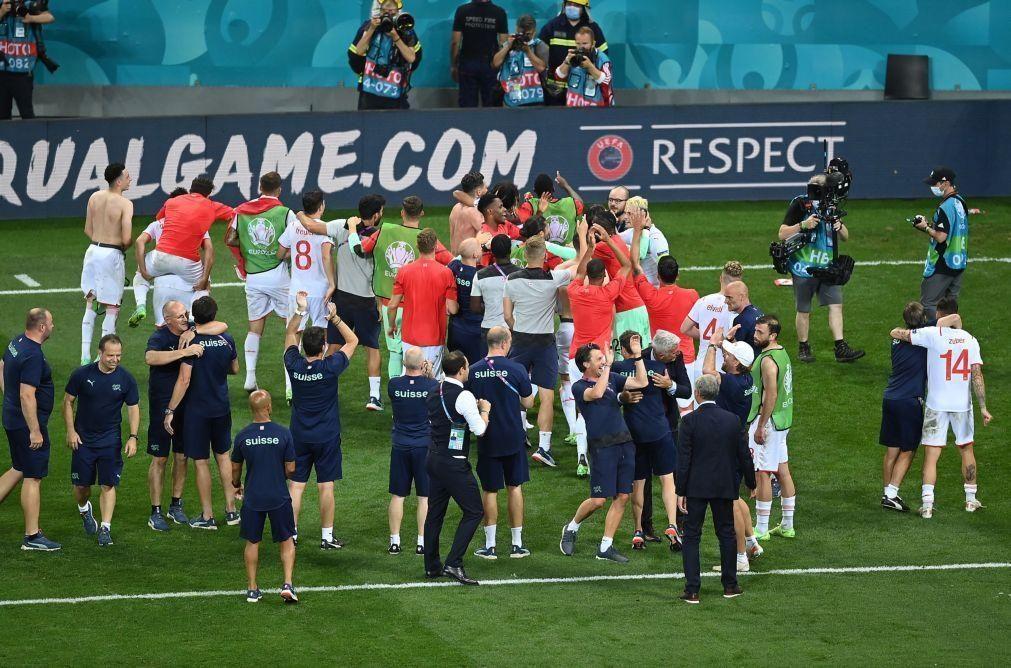 Euro2020: Suíça elimina França nos penáltis e defronta Espanha nos 'quartos'