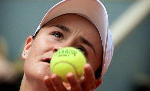 Tóquio2020: Líder do ténis mundial Ashleigh Barty estará nos Jogos Olímpicos