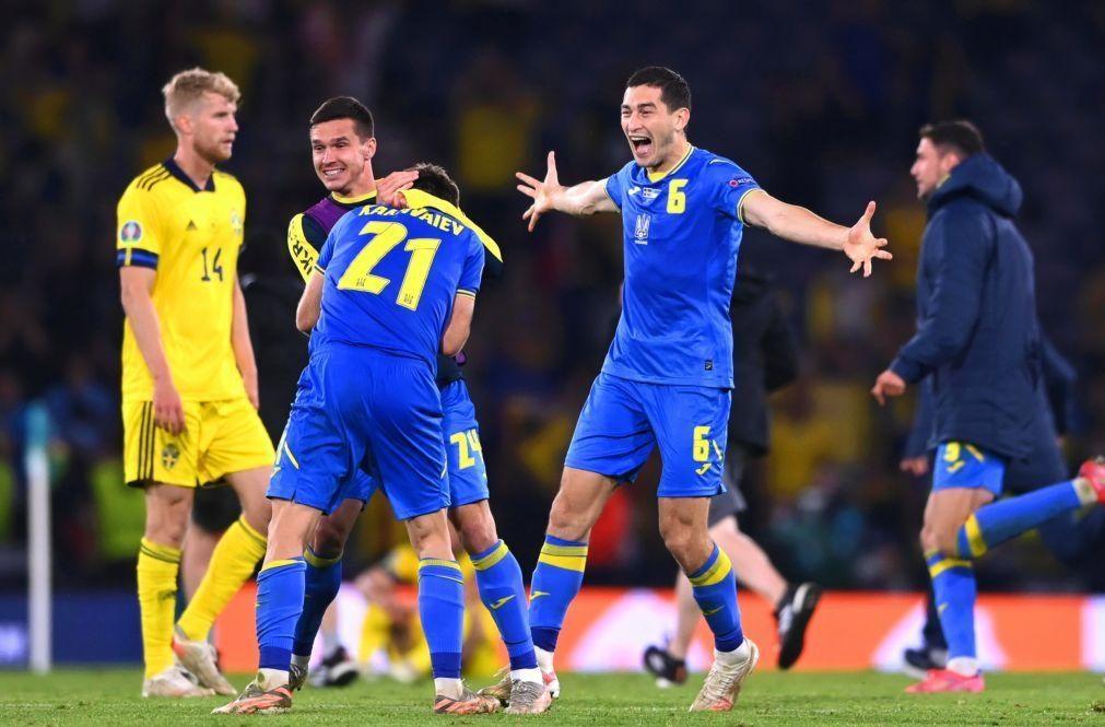 Euro2020: Ucrânia bate Suécia no prolongamento e defronta Inglaterra nos quartos