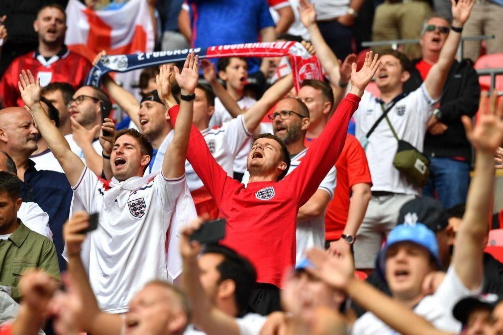 Euro2020: Inglaterra abdica de bilhetes e pede a adeptos para não irem a Roma