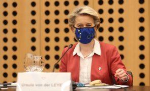 Covid-19: Von der Leyen diz que 27 concordaram com travão de emergência à livre circulação