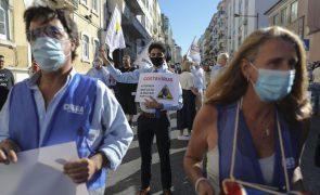 Covid-19: Apoiantes do Chega manifestaram-se em Lisboa contra restrições