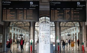 Suprimidos 24% dos comboios até às 12:00 devido à greve de hoje - IP
