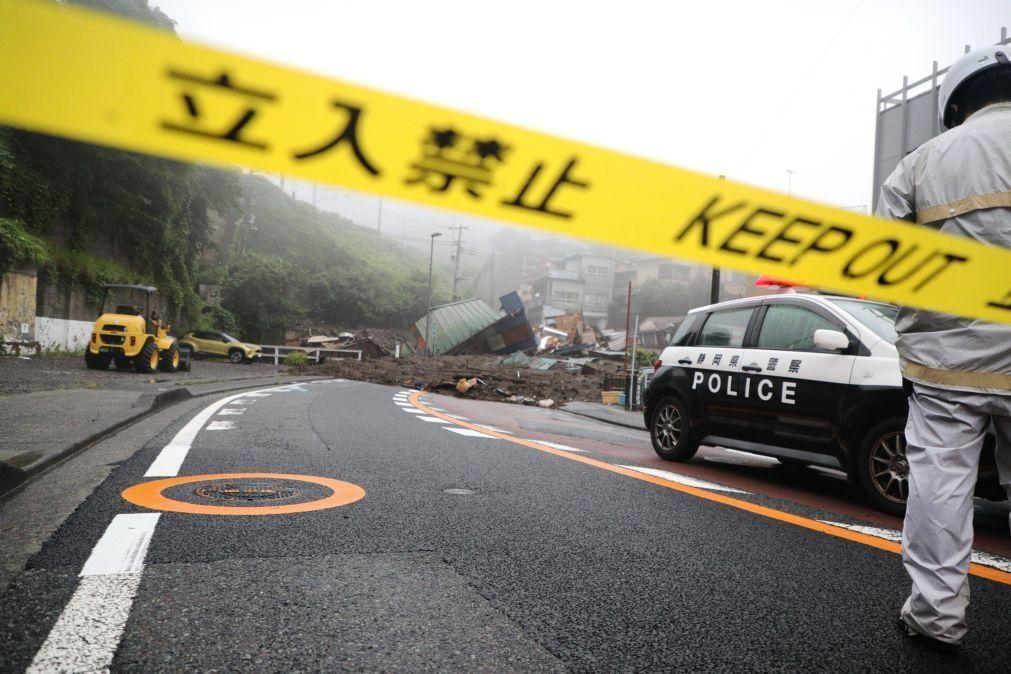 Chuva torrencial no Japão provoca dois mortos e uma vintena de desaparecidos