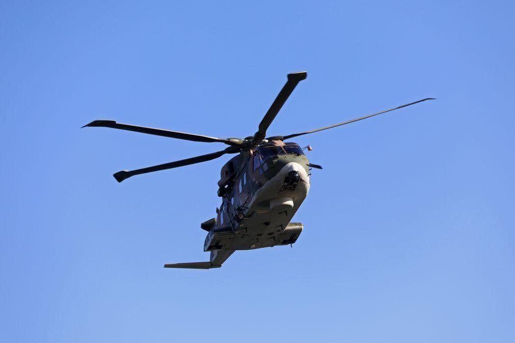Força Aérea chamada para resgate de homem em trilho de dificil acesso em Arcos de Valdevez