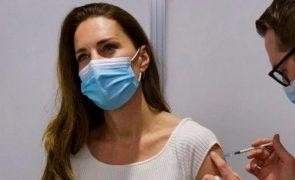 Kate Middleton em isolamento após contacto com caso positivo de covid