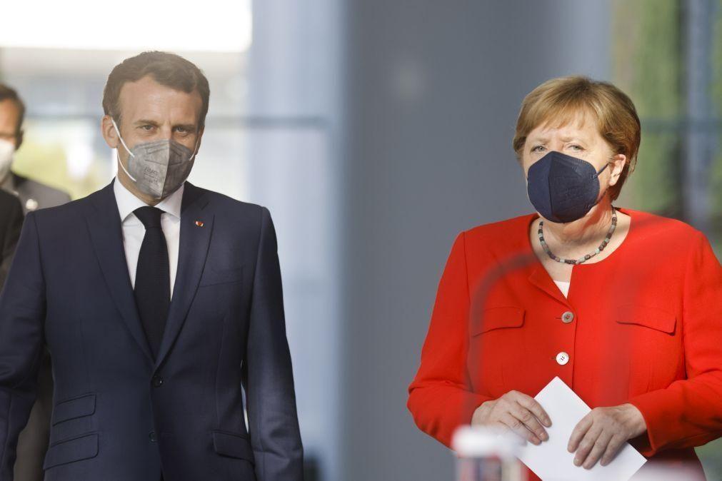 Merkel e Macron apoiam ratificação de acordo de investimento com a China -- Media