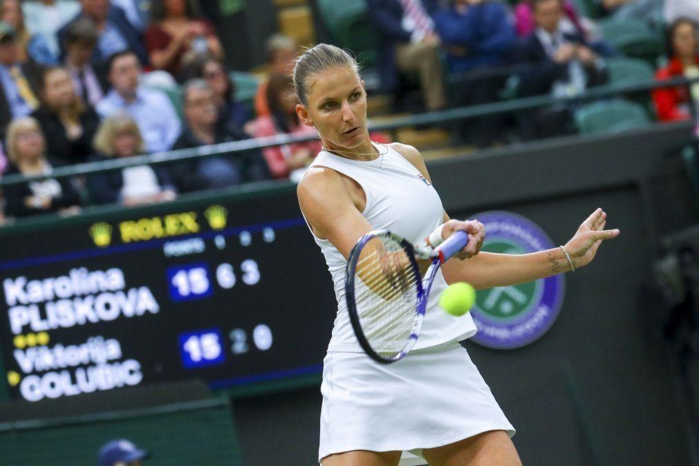 Wimbledon: Pliskova bate Golubic e está pela primeira vez nas meias-finais