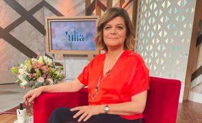 Júlia Pinheiro afastada dos ecrãs por causa da covid-19