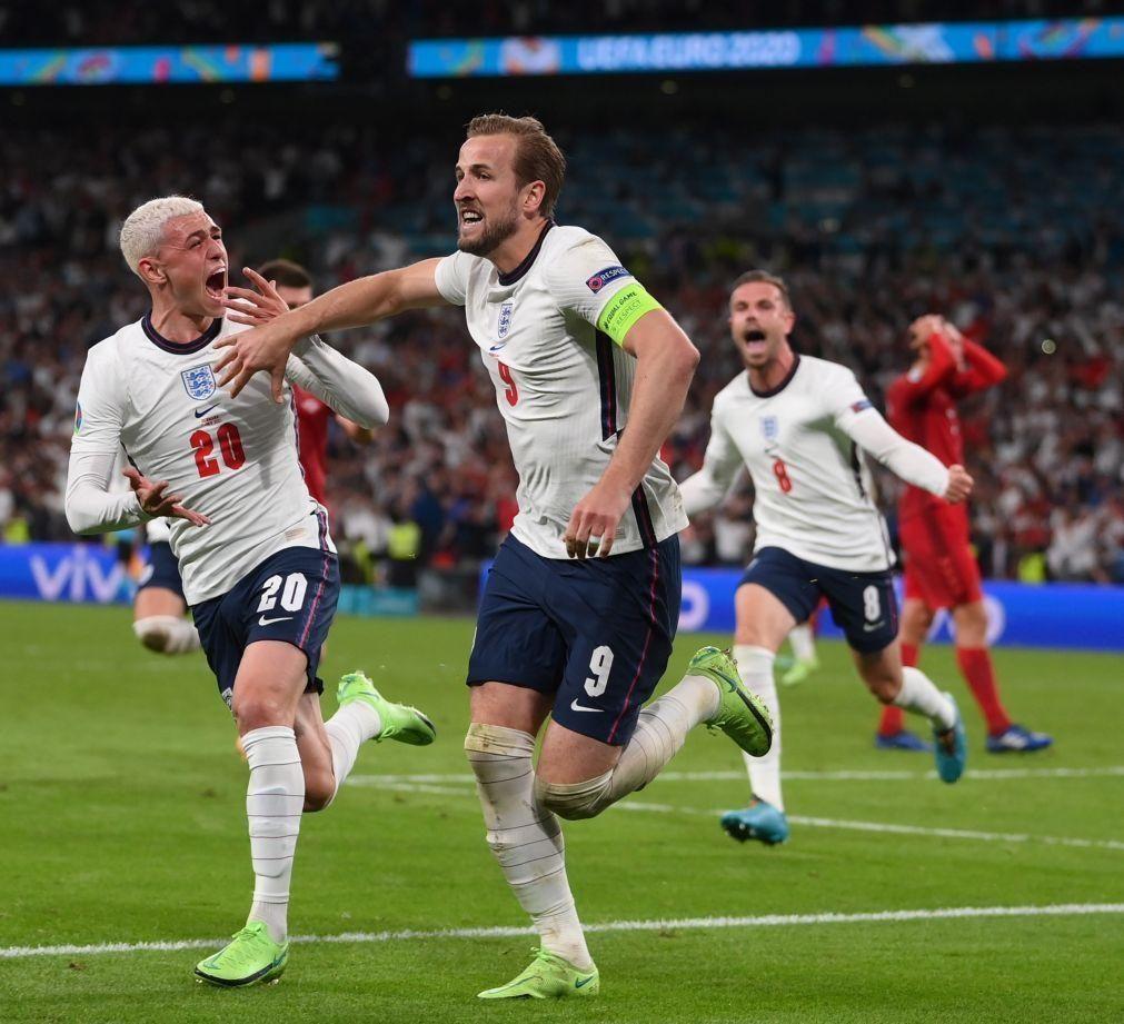 Euro2020: Inglaterra pela primeira vez na final ao bater Dinamarca