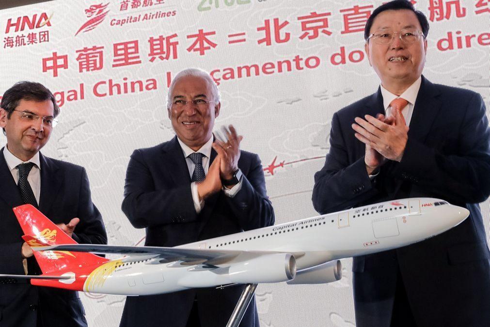 Costa espera que voos diretos Lisboa-Pequim reforcem Portugal como