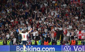 Euro2020: UEFA abre procedimento disciplinar à Inglaterra por comportamento dos adeptos